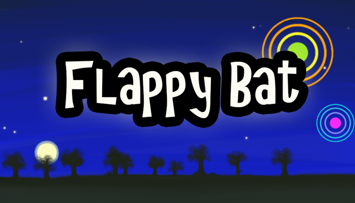 promo Flappy Bat new met bomen en maan en ring 2015